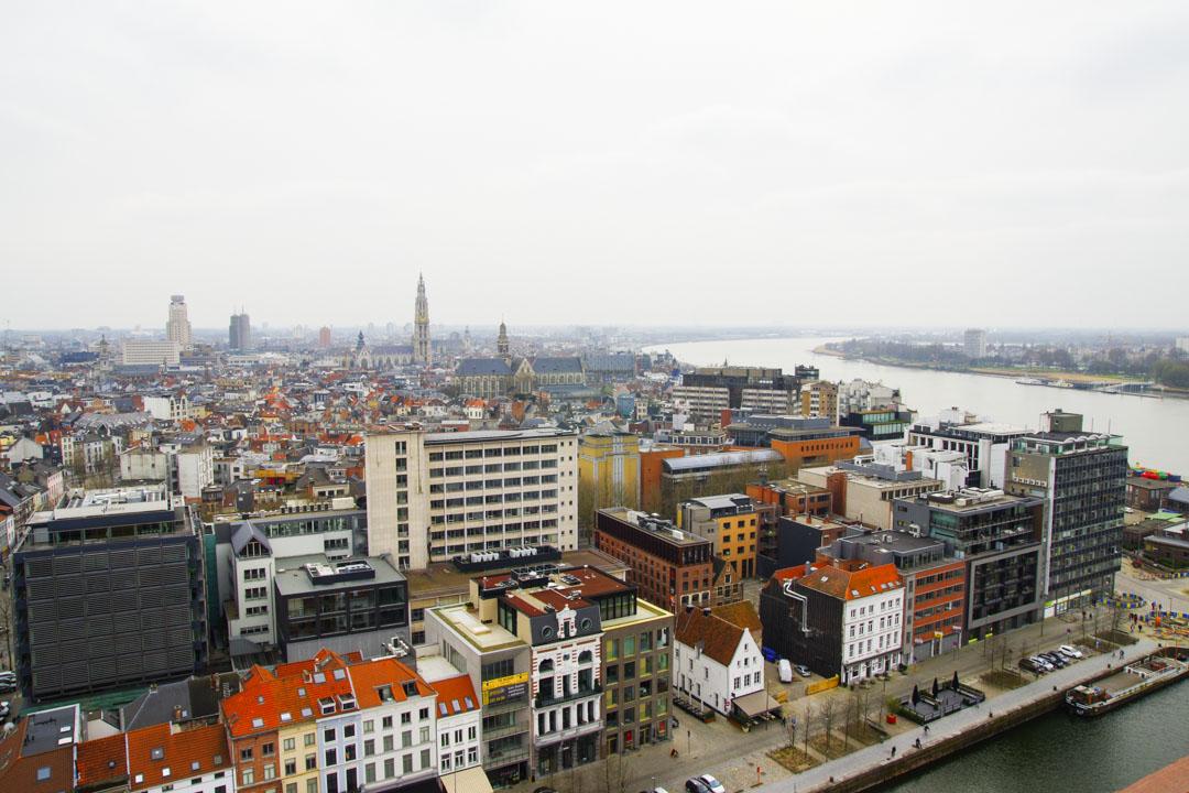 Panorama sur Anvers depuis la terrasse du Mas