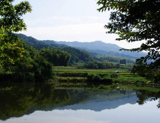 Paysage japonais autour de Nara