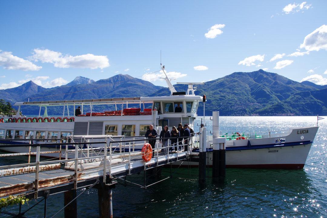prendre le bateau pour visiter le lac de Côme