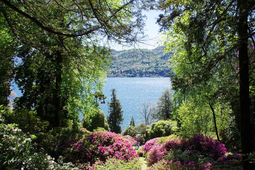 Jardins de la villa Carlotta avec la vue sur le lac de Côme - Tremezzo