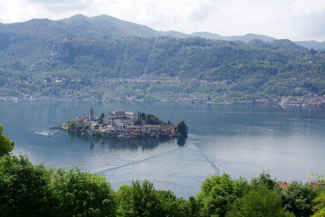 Panorama sur le lac d'Orta