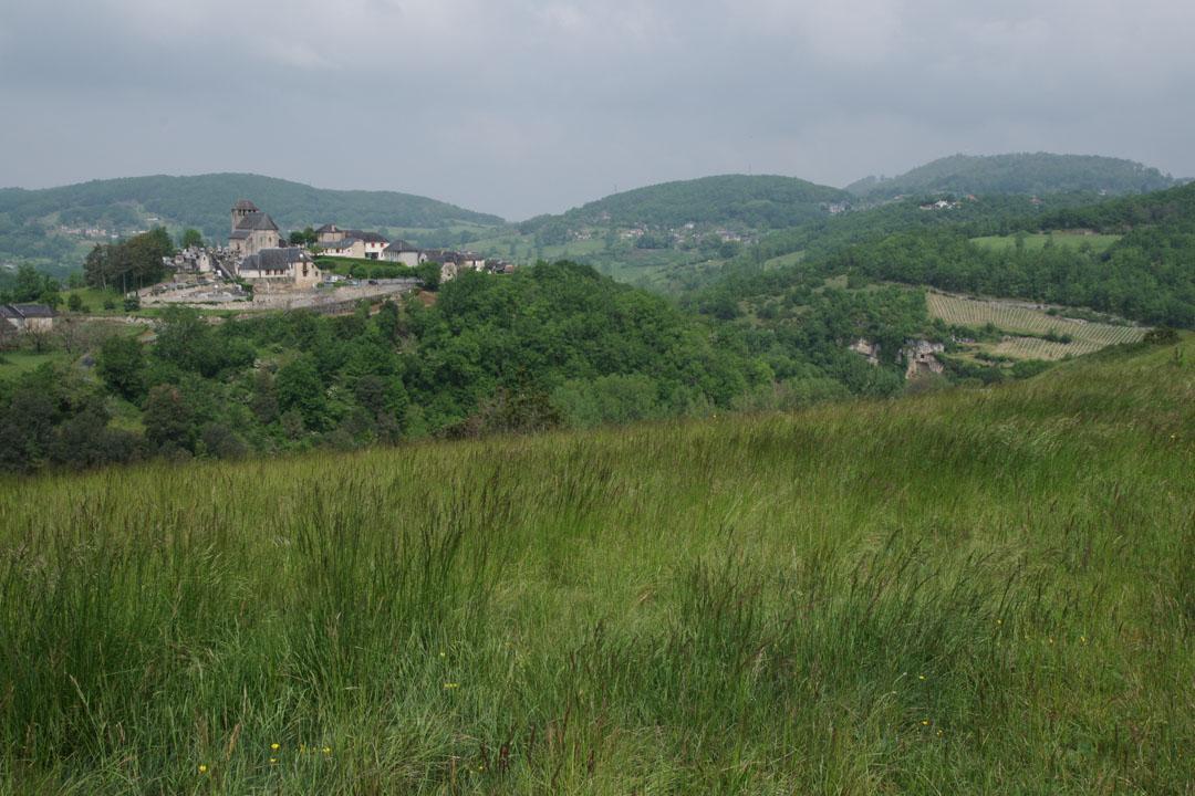 Vue sur Chasteaux depuis la Montagne Pelée