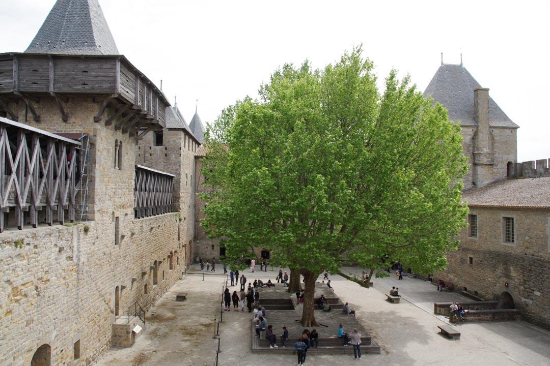 cour du chateau comtal de Carcasonne