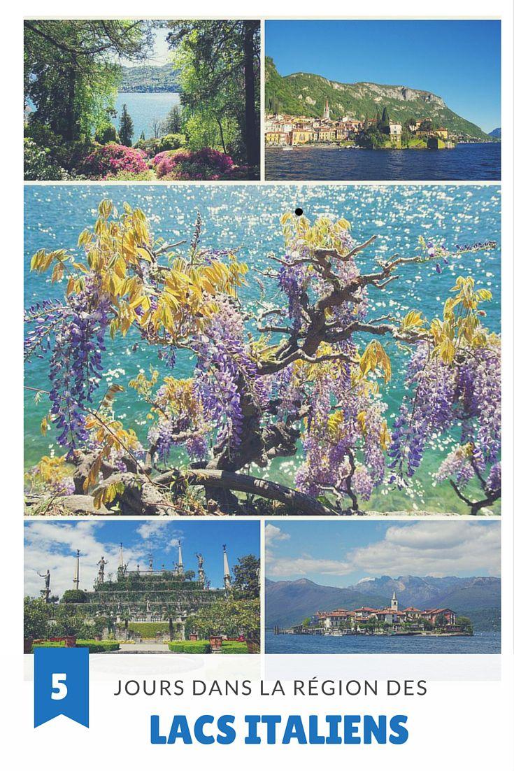 Itinéraire de 5 jours complets dans la région des Lacs Italiens : lac de Côme, lac de Lugano, lac Majeur et lac d'Orta