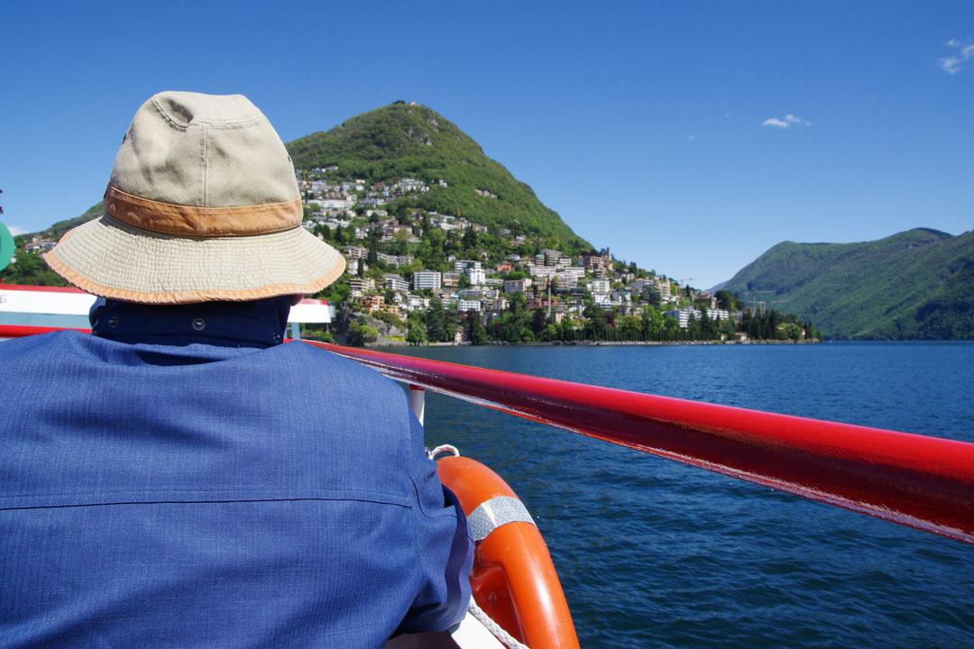 Sur le bateau du lac de Lugano