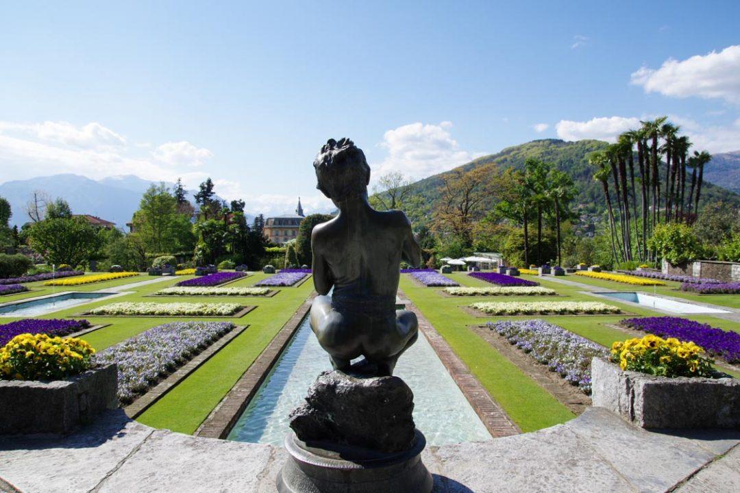 Statue du jardin de la villa Taranto