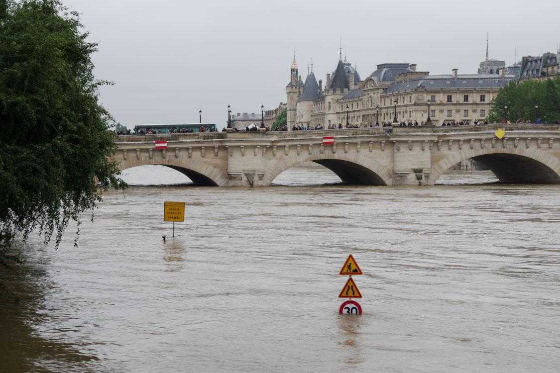 pont neuf - Crue de la Seine 2016