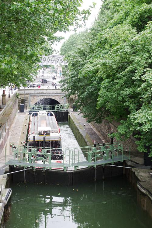 entrée du Canal Saint Martin - Paris
