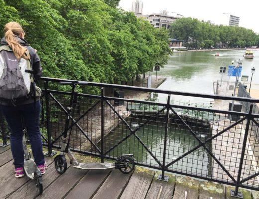 Balade en trottinette à Paris - Bassin de la Villette