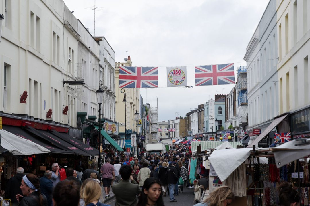 Marché de Portobello Road - Notting Hill - Londres