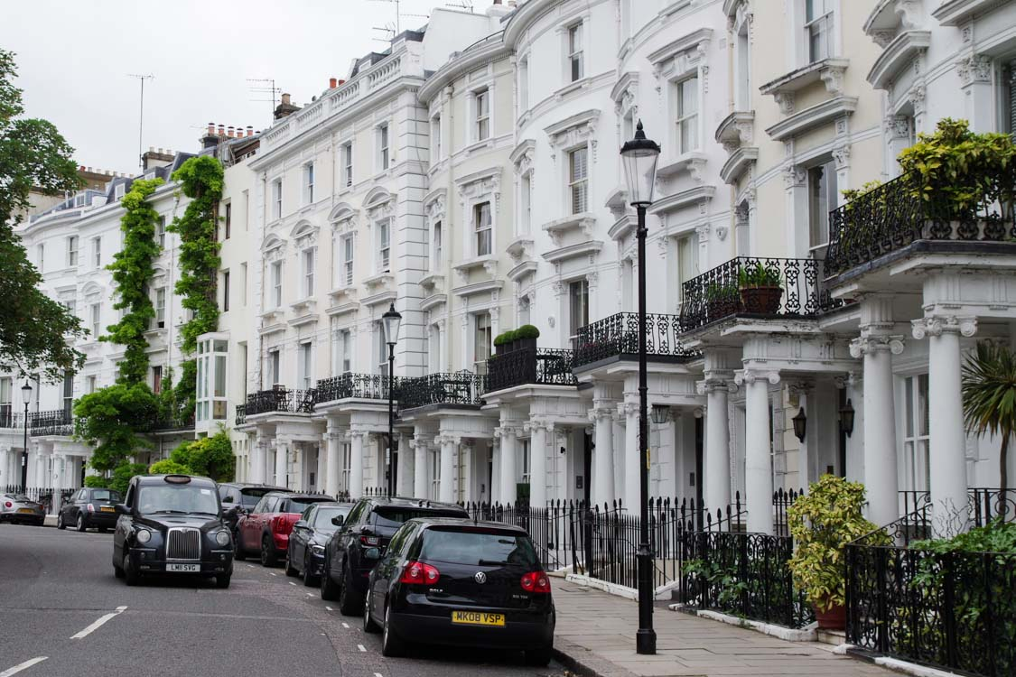 Quartier résidentiel de Notting Hill