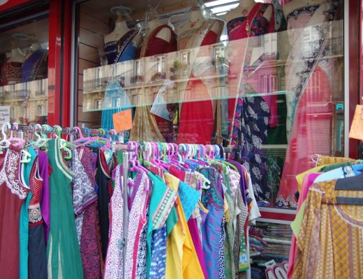 magasin de saris dans le quartier indien de paris