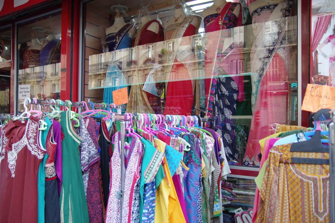 magasin de saris dans le quartier indien de paris