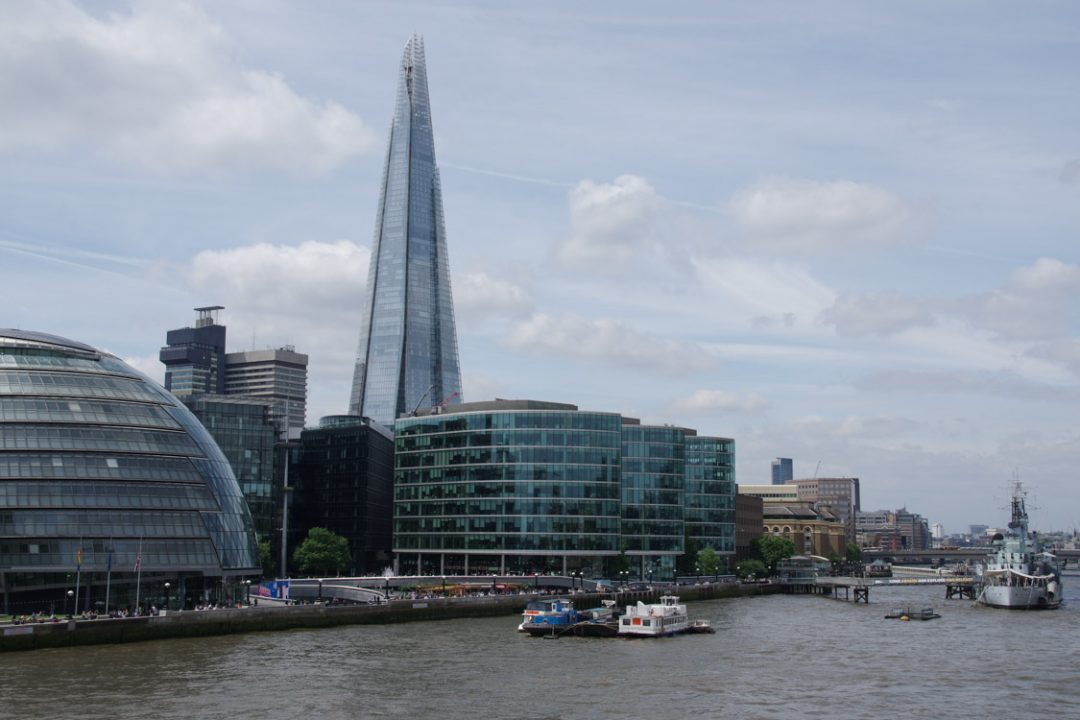 Panorama sur the Shard et la Tamise