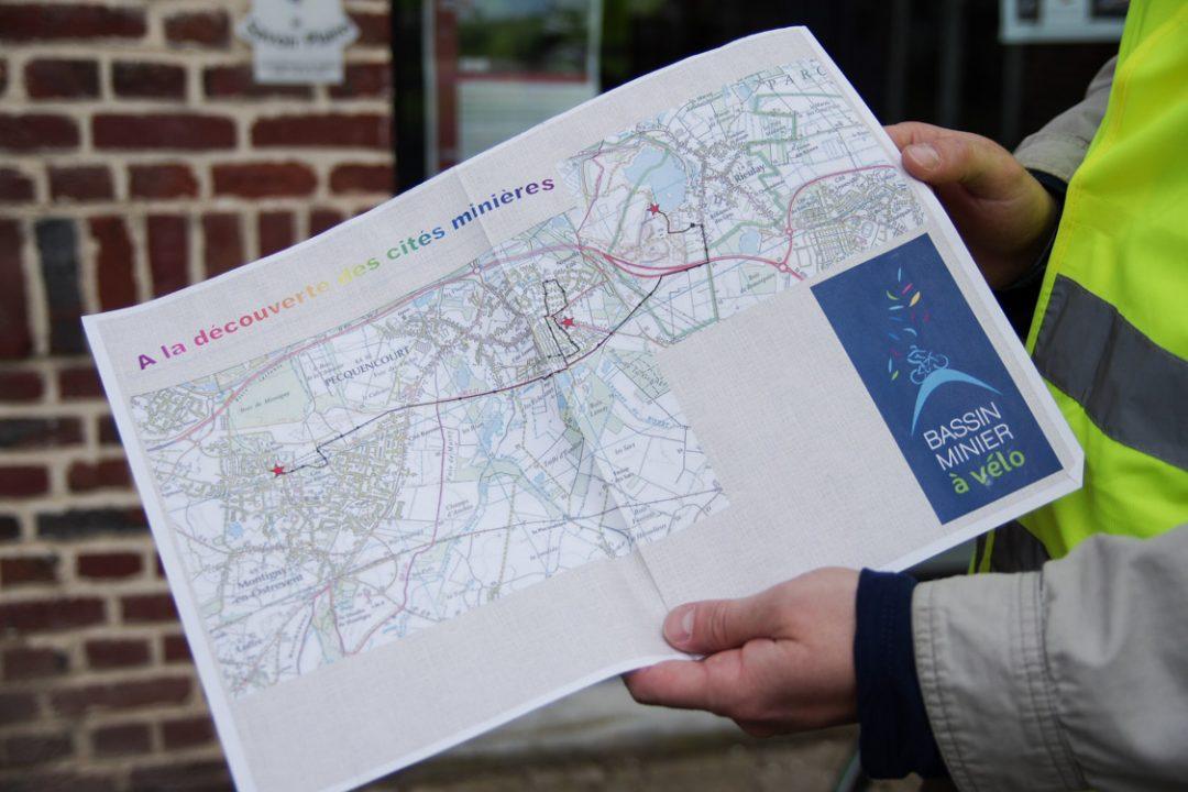carte de l'itinéraire du circuit minier