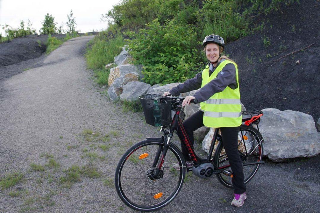 A vélo sur le terril des Argales