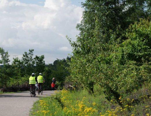Balade en vélo sur le terril des Argales