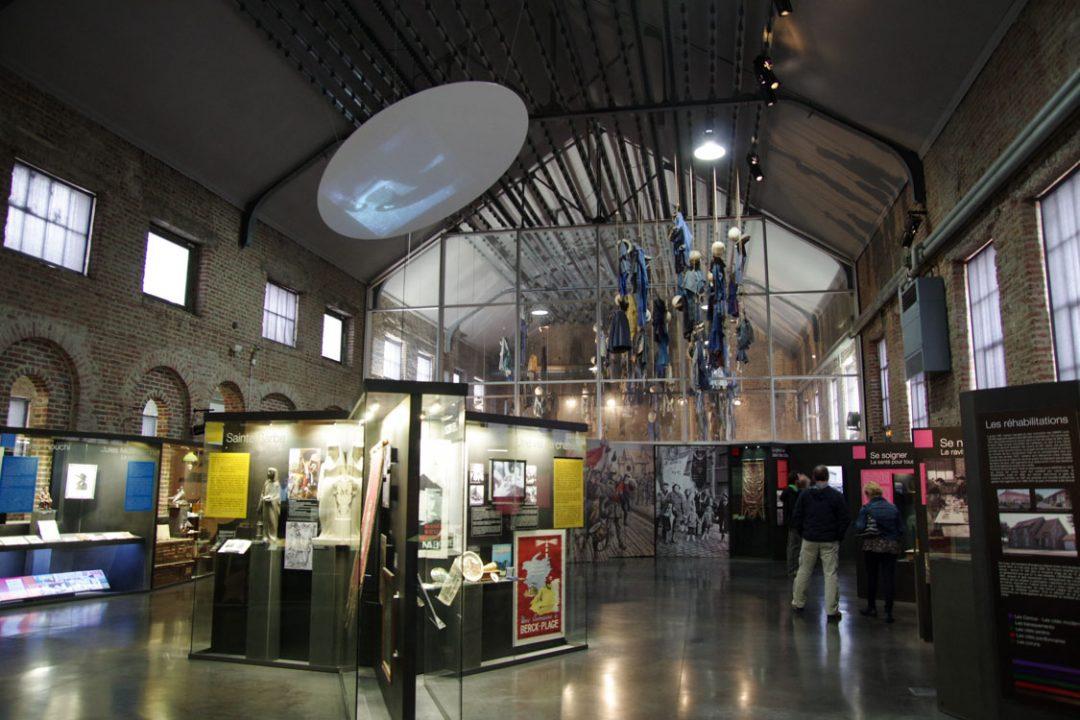 une salle d'exposition du centre historique miner