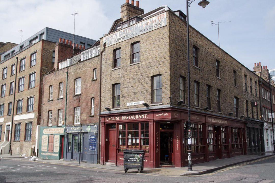 East London à côté d'Old Spitafields Market - Londres