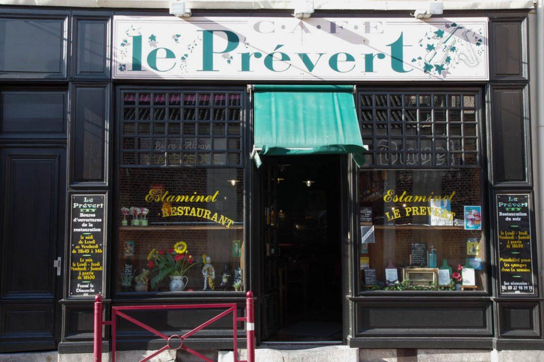 façade du restaurant le prévert à Douai