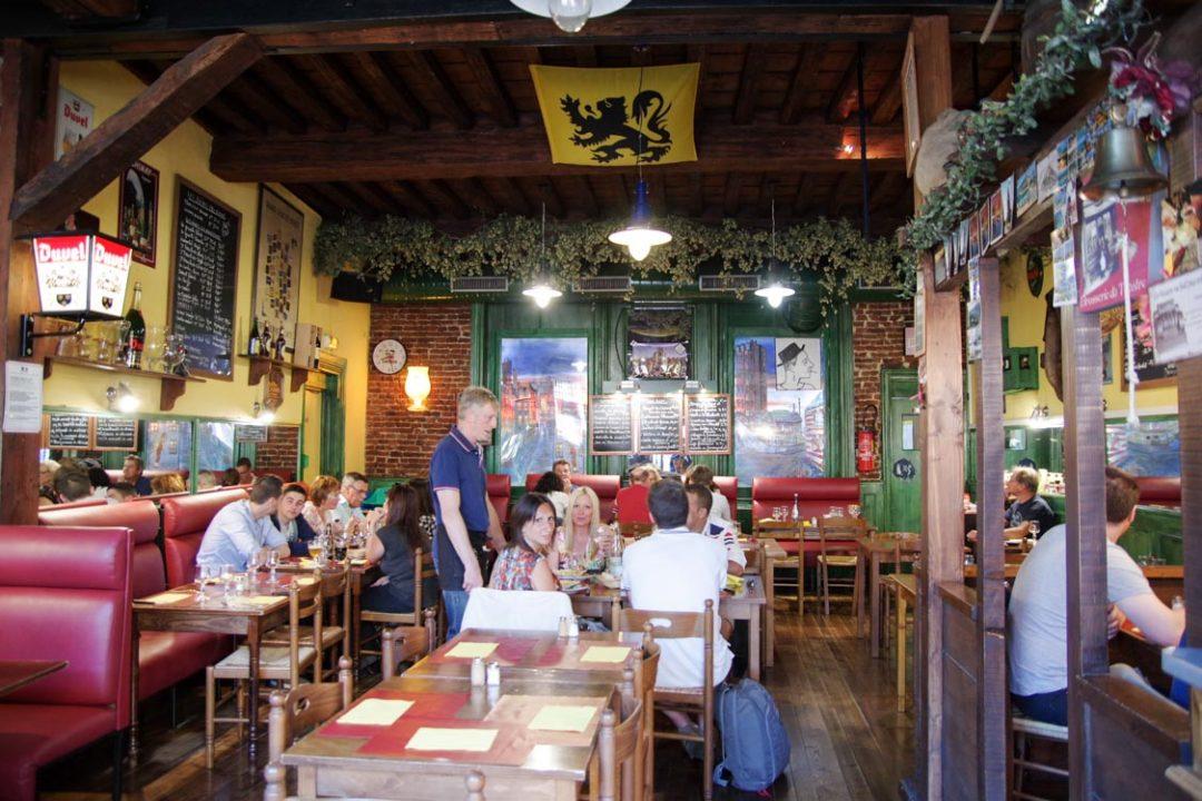 Intérieur du restaurant le prévert à Douai