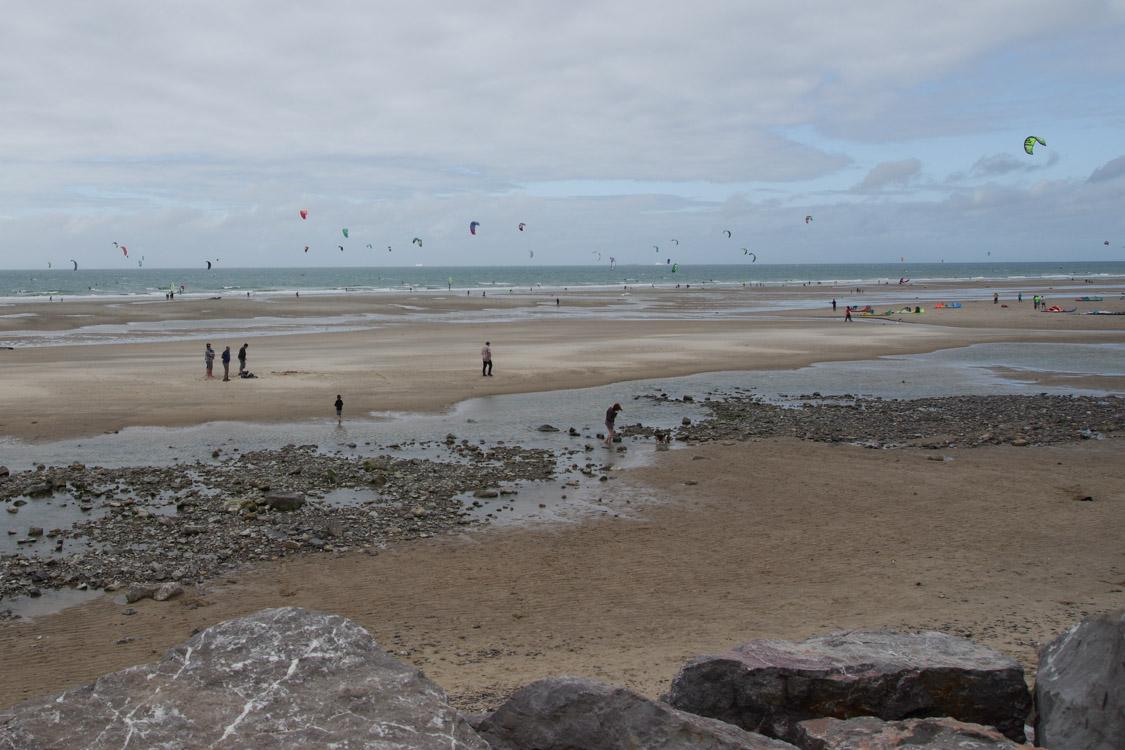 les kites surf à la plage de Wissant