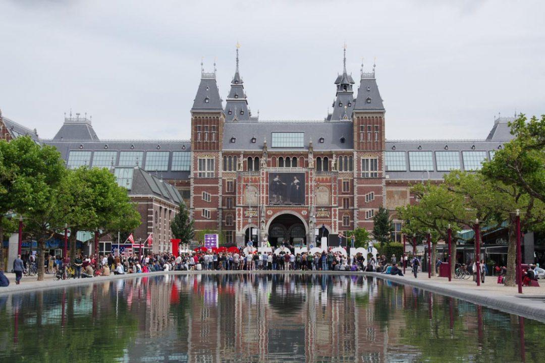 Façade principale Rijksmuseum à Amsterdam
