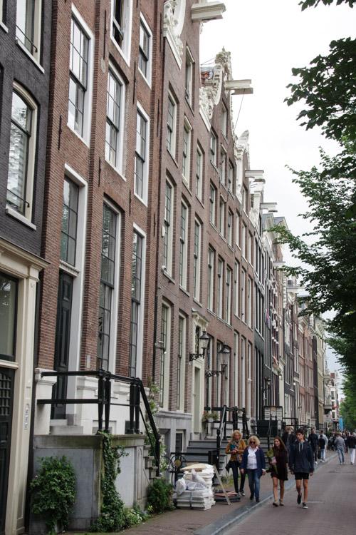 Facades du centre historique d'Amsterdam
