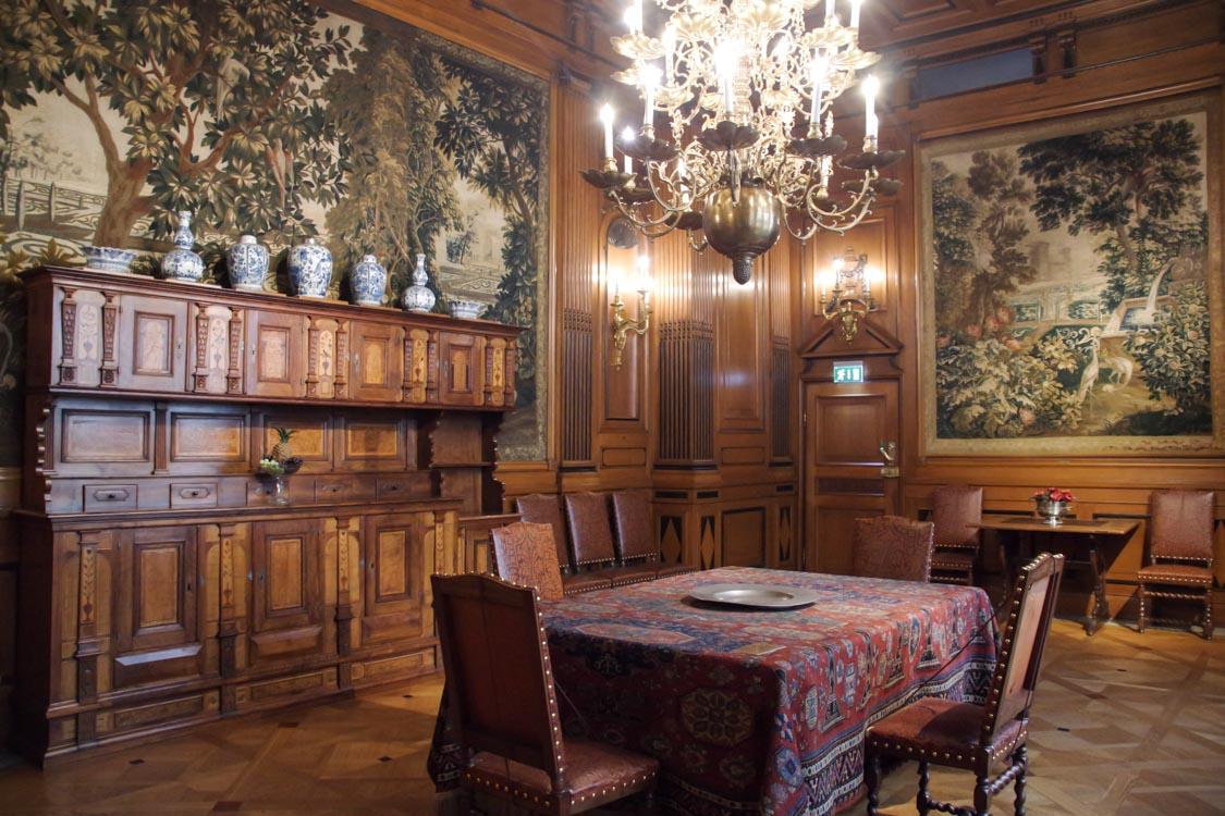salle à manger du musée Hallwyl - Stockholm