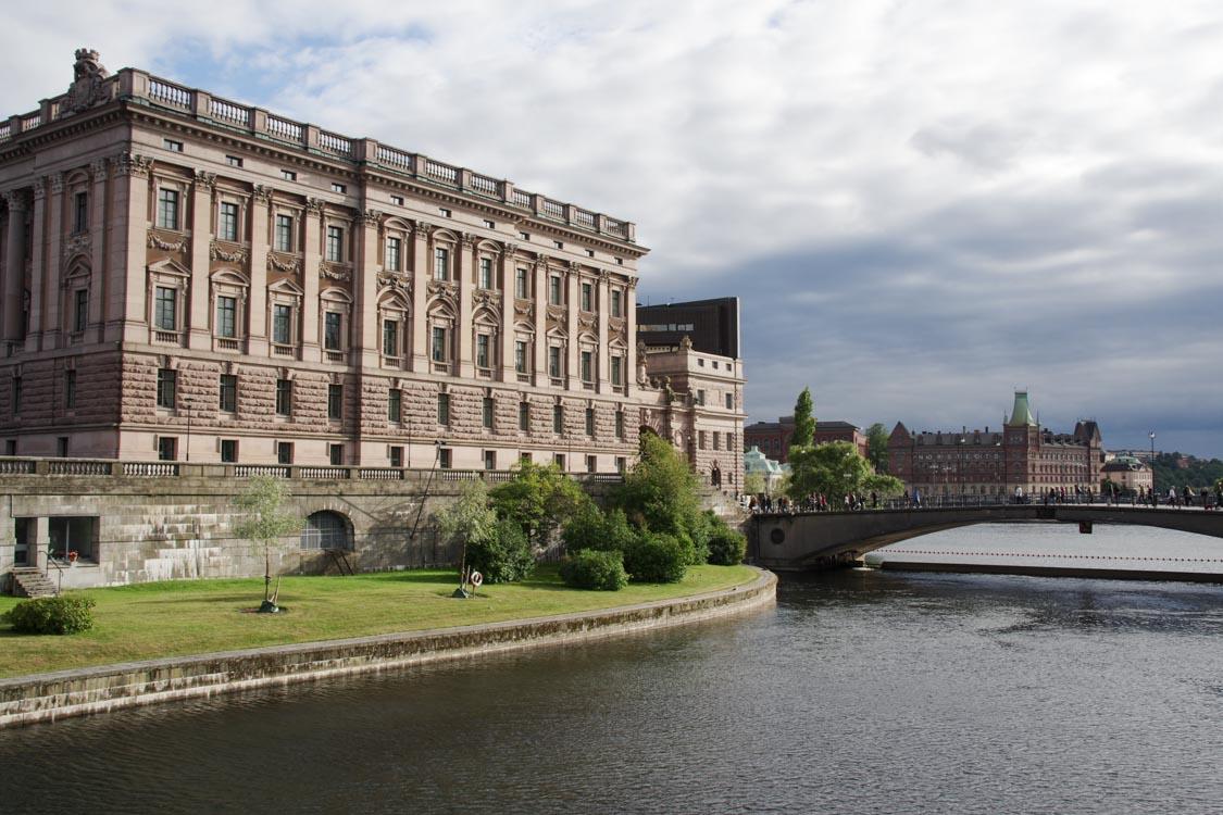 vue extérieur du palais royal de Stockholm