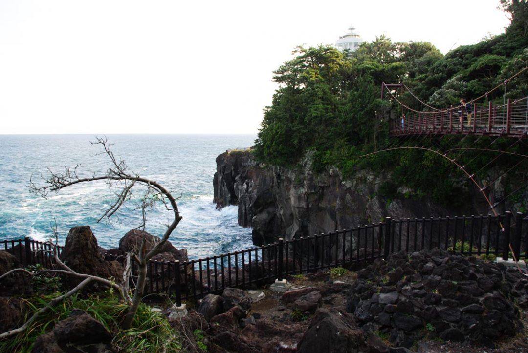 pont suspendu sur la côte de Jogasaki