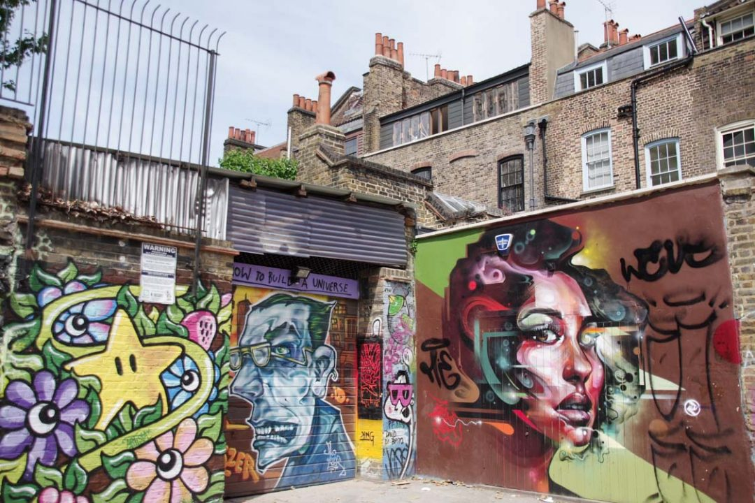 Street Art autour de Brick Lane - Shoreditch - East London