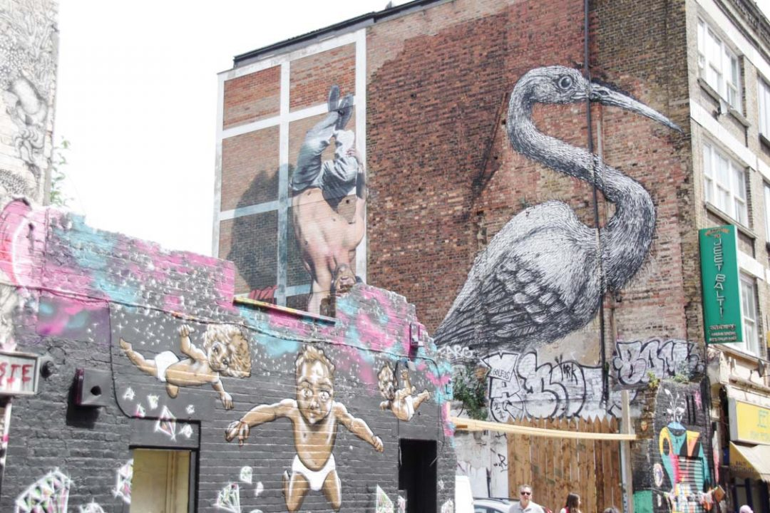 Street Art autour de Brick Lane à East London