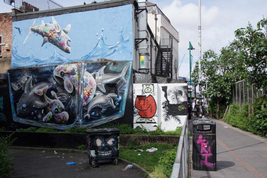 Street Art dans le quartier de Shoreditch - East London