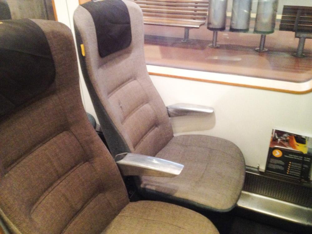 les fauteilles très design de l'Arlanda Express