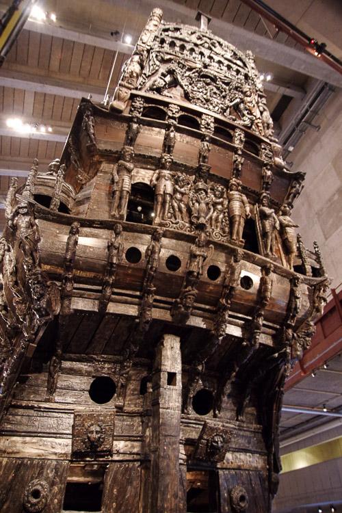 détail de la poupe du Vasa - Stockholm