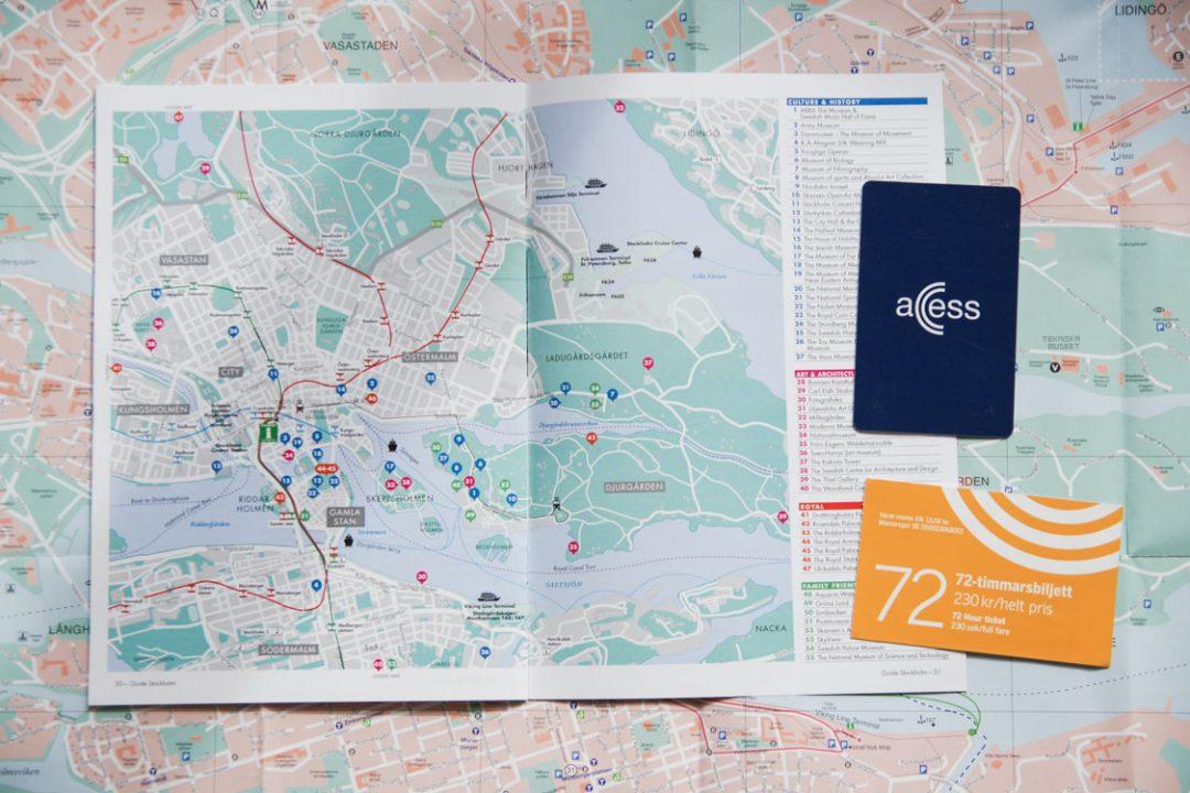 les différentes cartes pour utiliser les transports en commun à Stockholm