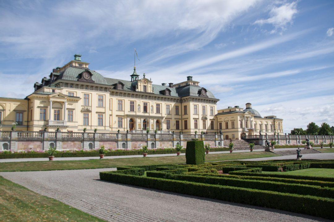 Façade côté parc du chateau de Drottningholm