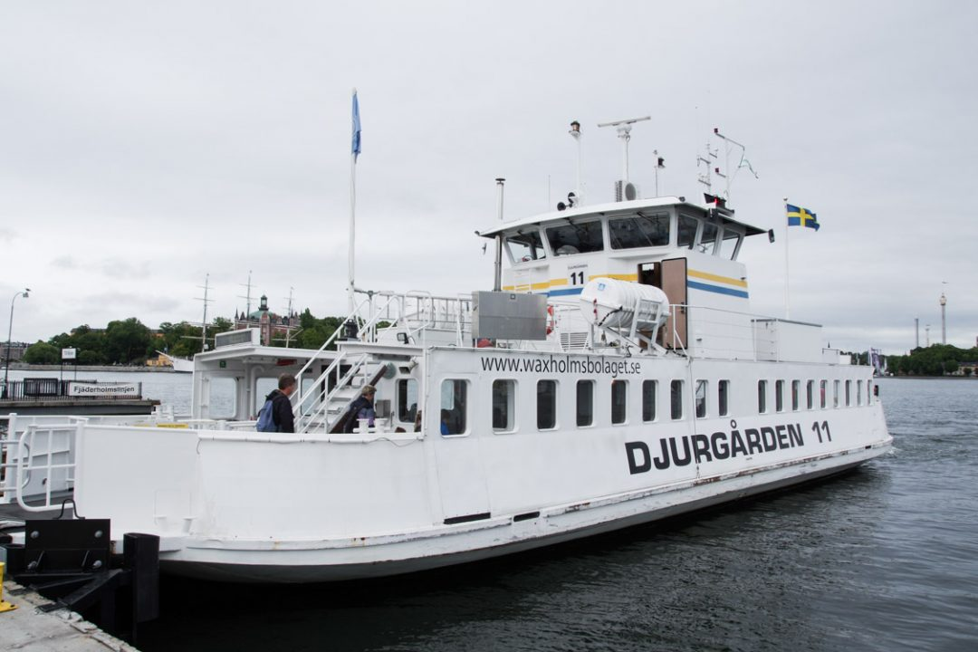 Le ferry qui relie Slussen et Djurgarden