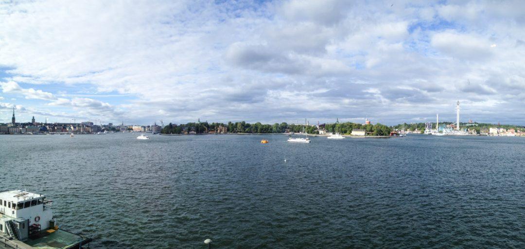 Point de vue sur Stockholm depuis le restaurant du Fotografiska