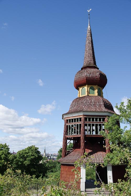 Clocher traditionnel de Suède - Musée Skansen - Stockholm