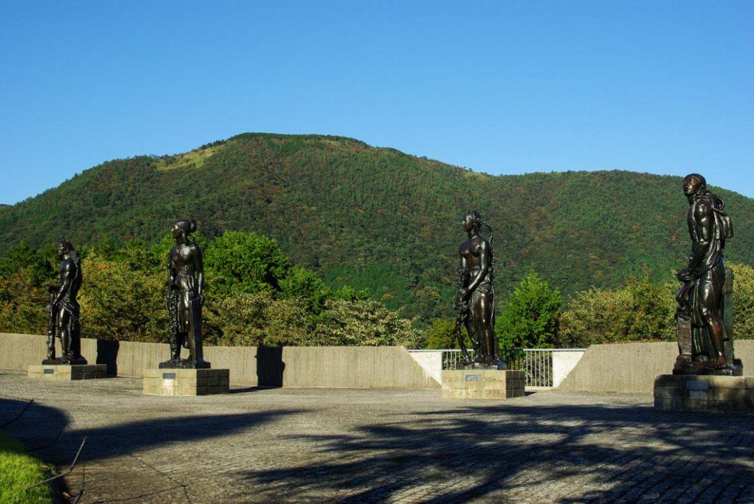 Statues de Bourdelle au musée en plein air d'Hakone