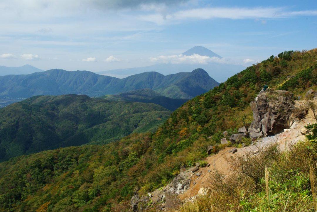panorama sur les monts kintoki et fuji