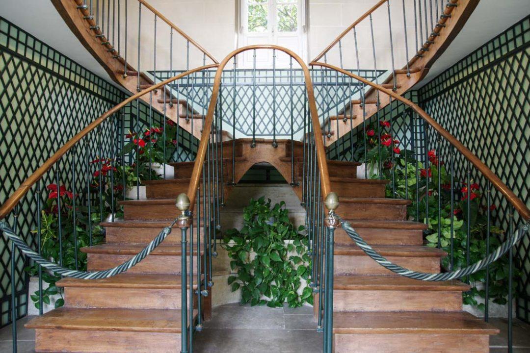 Double escalier - maison de chateaubriand