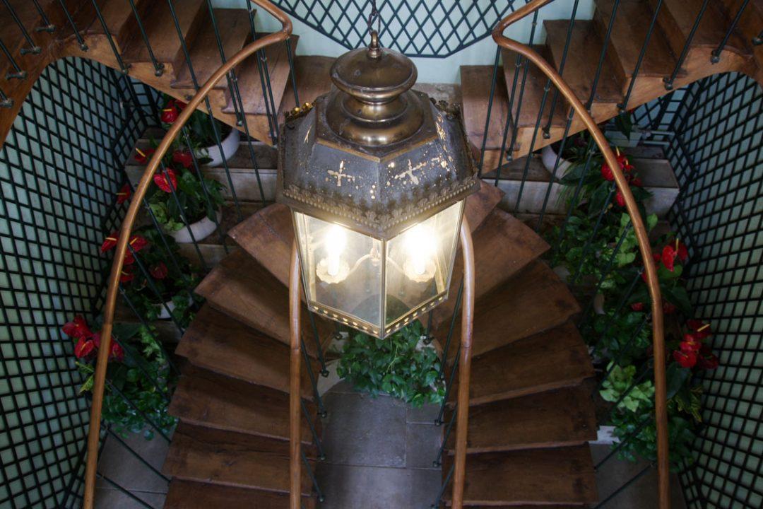 le double escalier vu de haut - maison de Chateaubriand