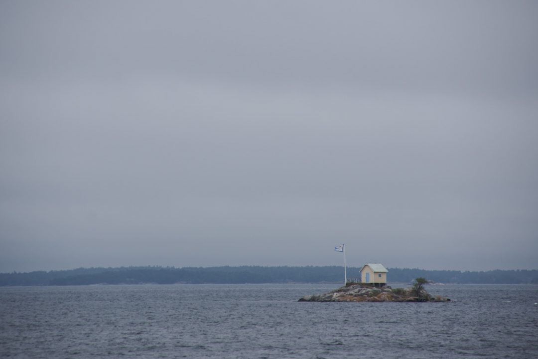 une ile perdue au milieu de l'archipel de Stockholm