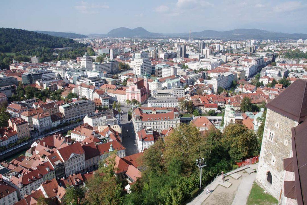 Panorama sur la vieille ville de Ljubljana