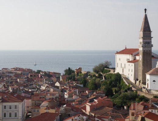 Vue sur le centre ville historique de Piran
