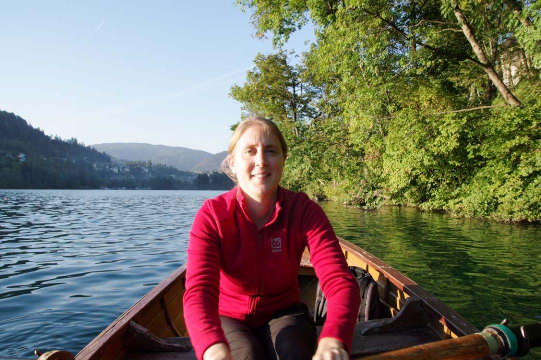 balade en barque sur le lac de Bled