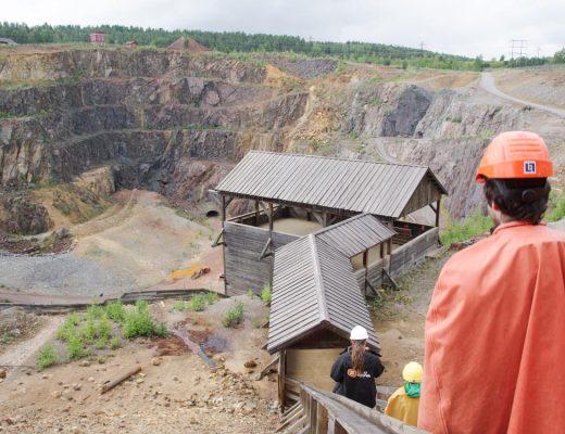 départ de la visite de la mine de Falun